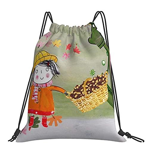 Bolsa de gimnasio Girl Et Mochila con cordón de cocodrilo Bolsas deportivas Bolsa de playa para yoga Gimnasio Natación Viajes Playa