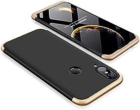 Huawei Nova 3e Case, Fashion ultra Slim Gkk 360 3in1 Full Protection Cover Case - Black Gold