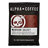 Alpha Coffee - Warrior Select - 16 oz. Premium Gourmet Craft Dark Roast Whole Coffee Beans | Veteran Owned - Specialty Small Batch Roasted Coffee | 100% Arabica Beans (Combat Roast)