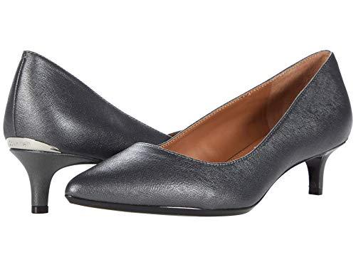 Calvin Klein Women's Gabrianna Pump, Pewter Leather, 10