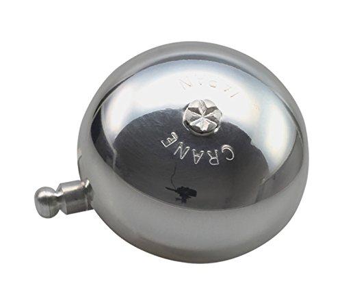 CRANE Bell Co. Unisex– Erwachsene Fahrradklingel Karen W Steel Band Mount, Silber Poliert, 50mm