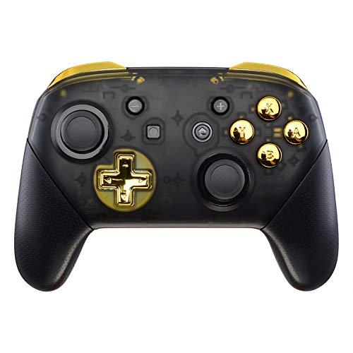 eXtremeRate ABXY D-Pad ZR ZL L R Botones para Mando Nintendo Switch Pro DIY Teclas de Reemplazo Botón Completo con Herramientas para Nintendo Switch Pro-Controlador NO...