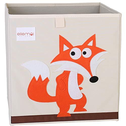 Cartoon Aufbewahrungswürfel Leinwand faltbare Spielzeug Aufbewahrungsbox für Kinder von ELLEMOI (Fuchs)