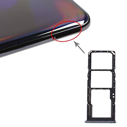 Sim1 Nano-SIM-Kartenfach, 2 Steckplätze, Micro-SD-Kartenhalter, kompatibel mit Samsung Galaxy A70 / A705 A705F SM-A705 (schwarz)