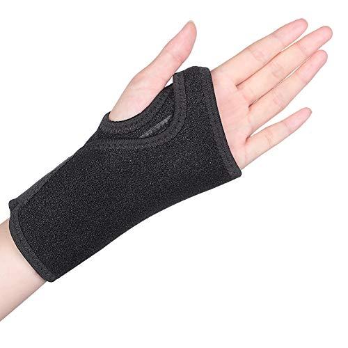 Handgelenkbandage Sehnenscheidenentzündung Handgelenkschiene Karpaltunnelsyndrom Schiene Handgelenkstütze leder Handgelenkschoner mit abnehmbarer Schiene Stabilisator für Schmerzlinderung-Links