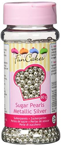 FunCakes, Sprinkle para repostería (Plata metalizado) - 80 gr.