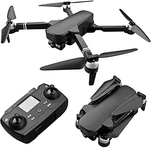 Droni con Fotocamera per Adulti, Fotocamera Gimbal a 2 Assi 4K 2500 W EIS, 2 batterie 56 Minuti di Volo, Motore brushless, Trasmissione a 5 GHz, Doppio GPS di Ritorno Automatico a casa, Volo ad Alta