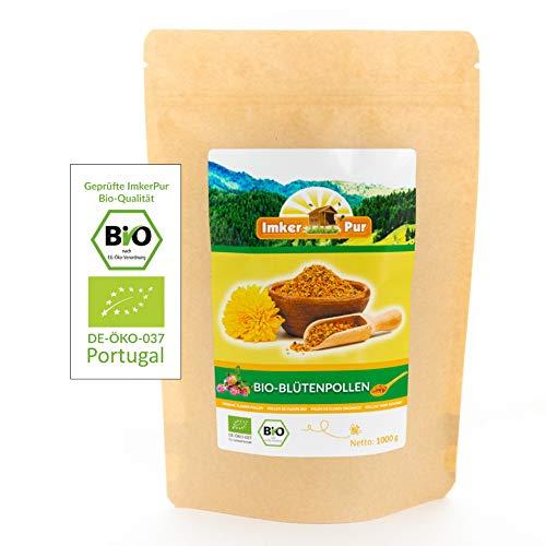 BIO-Blütenpollen / Bienenpollen in Premium-Imkerqualität, von ImkerPur, 1 kg, komplett rückstandsfrei, süßlich-mild, aus Portugal