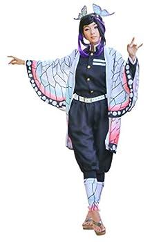 C-ZOFEK Kochou Shinobu Cosplay Costume Womens Kimono Outfit  Small