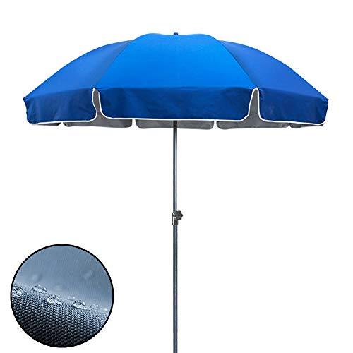 ZJM Sonnenschirm Leichter Markt Tischschirm, Kleiner Bistro- / Dock-Sonnenschirm mit Stahlstangen, Einfach zu Bedienen & UV-Schutz, 7,9ft