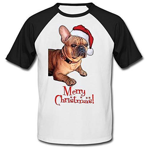 teesquare1st Merry Christmas French Bulldog Ginger Santa Camiseta DE Mangas...