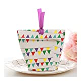 ZSS 50の6x6x10cmクリエイティブギフトボックス、トートバッグ型のパーティーギフトボックス、クリエイティブ・紙キャンディボックス、リボン付き Gift-9.19 (Color : Style 2, Gift Bag Size : 6x6x10cm)