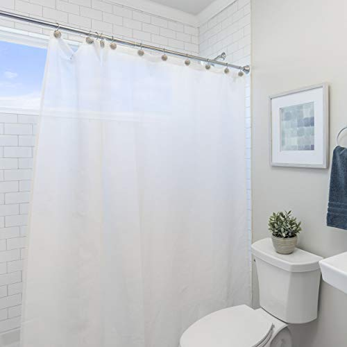 "Laura Ashley Peva Shower Curtain Liner, 72""x72"", Frosty"