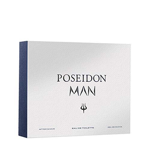 Poseidon Man - Set Perfume para Hombre EDT, After Shave y Gel de Ducha