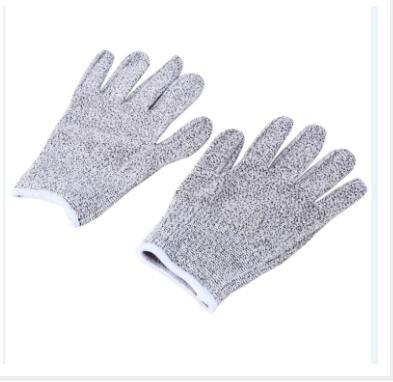 Wal front Schnittfeste Handschuhe Sicherheitshandschuhe Metzgerschutz Arbeitshandschuhe Elastische Faser M Heather Grey