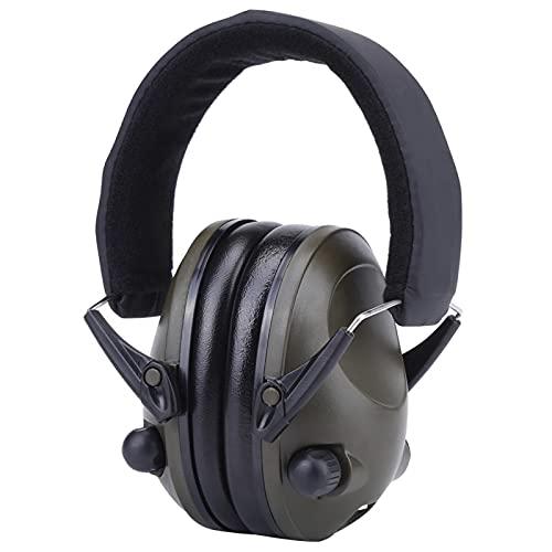 ciciglow Orejeras con reducción de Ruido, protección auditiva, Protectores auditivos, amplificación de Sonido Deportivo para ingeniería Pesada, minería(Especificación Militar TAC6G Verde)