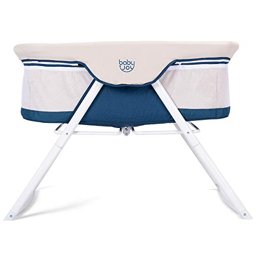 Cheapest Prices! BABY JOY Rocking Bassinet, 2 in 1 Lightweight Travel Cradle w/Detachable & Washable...