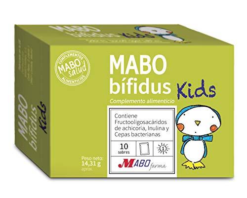 MABObífidus Kids 15 Cepas Probióticos y Prebióticos para Flora Intestinal y Sistema Inmunológico Niños 10 sobres