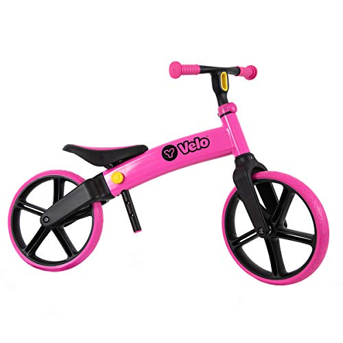 Yvolution Y Velo Senior Balance Bike 12' | No Pedal Push Bicycle for Kids Ages 3 to 5 Years Old (pink new)