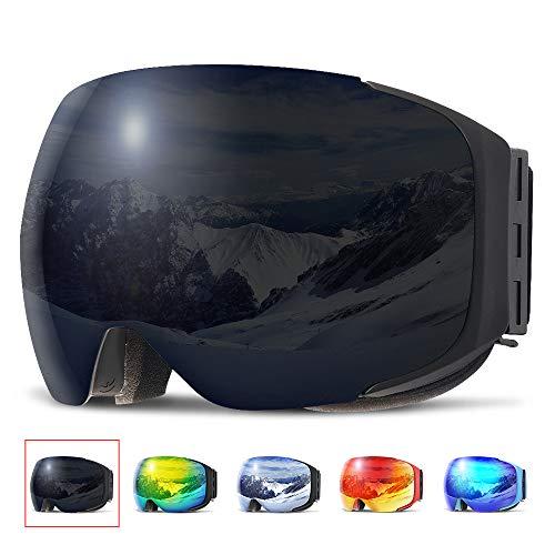 COPOZZ Skibrille G2 Ski Snowboard Brille Brillenträger Schneebrille Snowboardbrille Verspiegelt - Für Damen Herren Frauen Jungen
