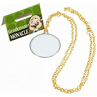 Bristol Novelty BA097 Gentleman's Monocle, Gold, One Size