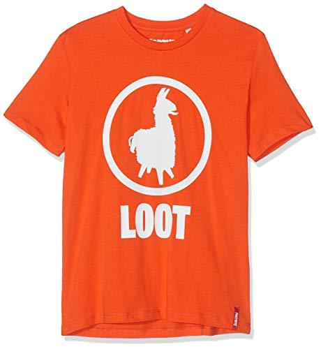 Fortnite Jungen 10805 T-Shirt, Orange (Orange Orange), 14 Jahre