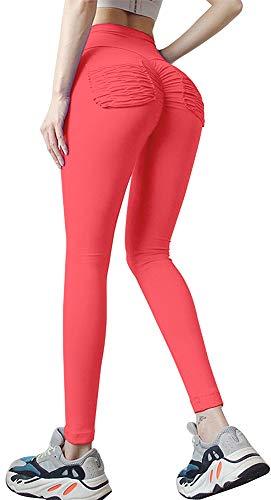 Memoryee Yoga-broek met hoge taille voor dames butt lifting elastische legging Workout hardlopen panty met textuur