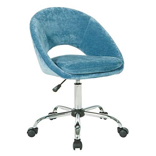 OSP Home Furnishings Milo Office Chair, Royal Blue