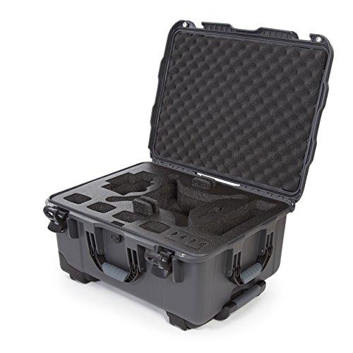 Nanuk DJI Drone Waterproof Hard Case with Wheels and Custom Foam Insert for DJI Phantom 4/ Phantom 4 Pro (Pro+) / Advanced (Advanced+) & Phantom 3-950-DJI47 Graphite