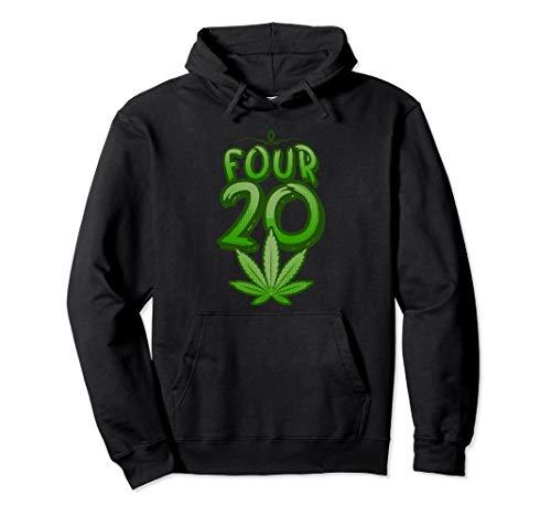 420 Day Cannabis Marihuana Blatt Stoner Unkraut CBD Öltopf Pullover Hoodie