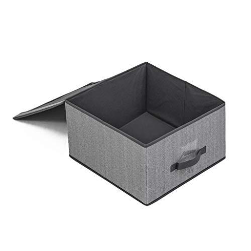 JIABAN Caja de almacenamiento plegable no tejida, cesta de almacenamiento plegable con asas para armarios, armarios y bolsas de almacenamiento
