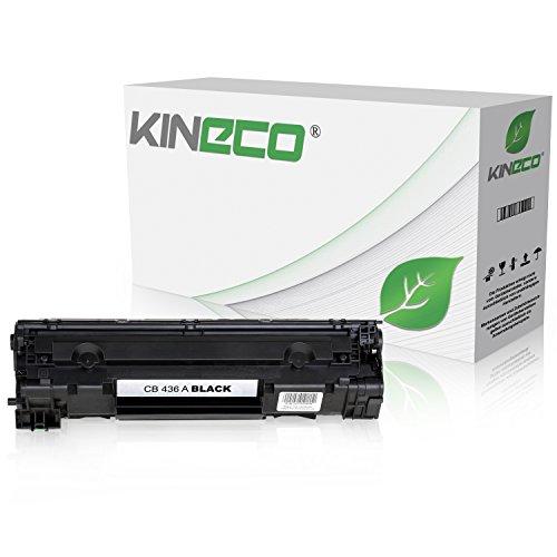 Kineco Toner kompatibel zu HP CB436A 36A für HP Laserjet M 1120a h n w MFP, 1522NF MFPm, M 1500 Series, P 1503n, P 1504n, P 1505n, P 1506n - Schwarz 2.000 Seiten