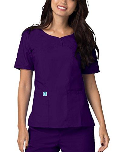 Adar Uniformes médicos - Casaca médica para Mujer con Cuello en v - 628 - Purple - S