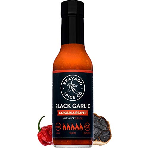 Bravado Spice Black Garlic Carolina Reaper | feat on Hot Ones Hot Sauce | Gluten Free | Vegan | All Natural