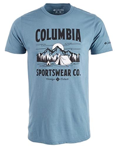 Columbia Men's Tent Life Logo Graphic T-Shirt Blue