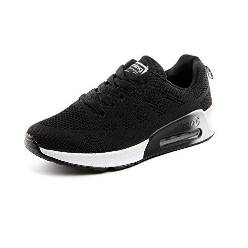 Zapatillas de Deportivos de Running para Mujer Gimnasia Ligero Sneakers Negro Azul Gris Blanco 35-40 Negro 40