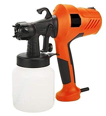 Dhruheer 400W Electric HVLP Airless Paint Sprayer Gun - Portable Painting/Spraying Machine with 800ml Detachable Container -Fast Air Painting Tool for Painting Cars, Wood, Furniture, Wall Woodworking