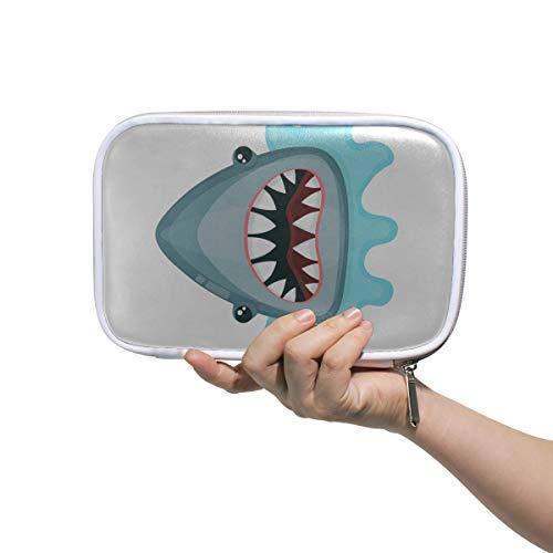 Trousse de toilette de voyage Fiercely Changeable Style Shark Pen Pouch For School Cosmetic Storage Bag Multifunctional Toiletry Bag Girls For Men Women