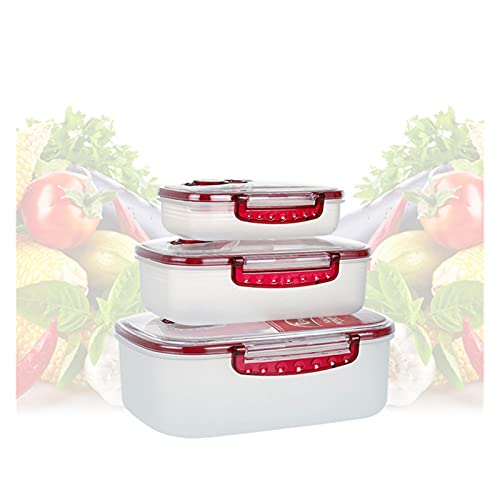 3 unids cocina comida fresca mantenimiento de contenedor de vacío caja de almacenamiento de alimentos multiusos presiona caja de conservación de vacío caja de alimentos sellada 603 ( Color : 3pcs )
