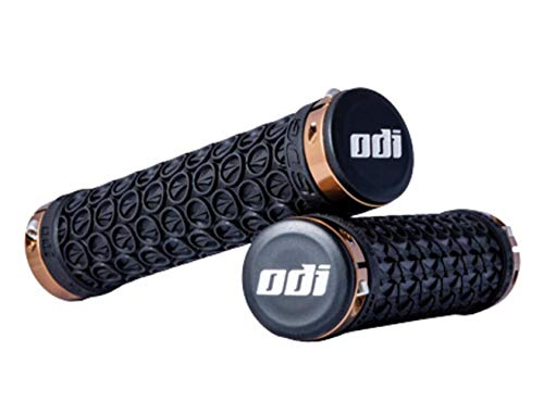 SDG Components Hansolo Lock-On Grips Black/Fusion Gold Ano Lock Rings, 130mm
