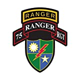 fagraphix 75th Ranger Regiment Insignia Sticker Decal Self Adhesive Battalion Sleeve Rangers 1.25' Wide