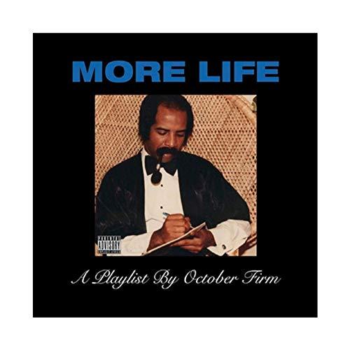 Aubrey Drake Graham's Album Cover - More Life Canvas Poster Bedroom Decor Sports Landscape Office Room Decor Gift 12×12inch(30×30cm) Unframe-style1