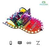Adeept BBC Micro: Bit Smart Robot Car Kit   Programmierbares STEM-Lernroboter-Kit   Microbit Starter Kit Starry: Bit mit detaillierten Projekten PDF Tutorial Book