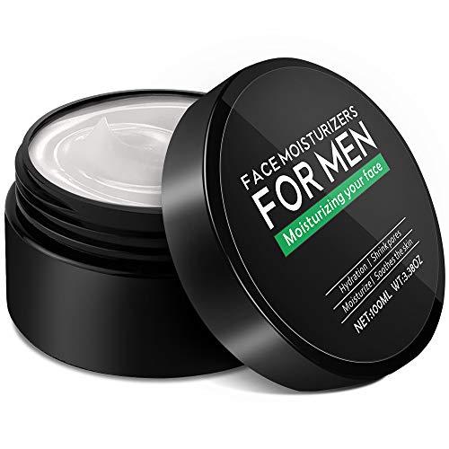 Face Moisturizer for Men, Lifelj Anti Aging Men's Face Cream Moisturizer Skin Care Anti Wrinkle Reduce Fine Lines,Natural and Organic Hydration Mens Face Lotion 100ml /3.38 oz