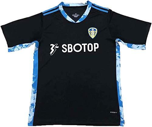 CLQ Leeds United Jersey 20-21 (Local y visitante) Traje de Entrenamiento de fútbol para Adultos y niños Aficionados edición Conmemorativa Camiseta de fútbol Trianing-S_Negro