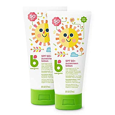 Babyganics SPF 50 Baby Sunscreen Lotion UVA UVB Protection | Water Resistant |Non Allergenic, 2 Pack (6 Ounce)