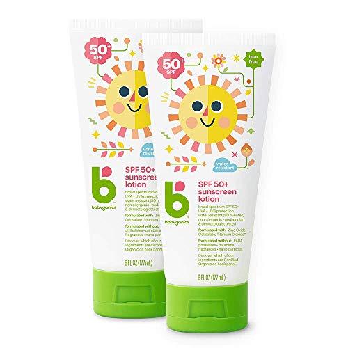 Babyganics Sunscreen Lotion 50 SPF Packaging May Vary6 Fl Oz Pack of 2