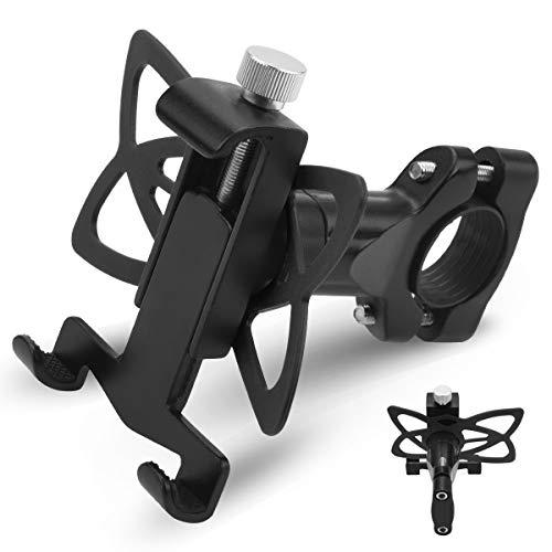 Fahrrad Handyhalterung AETKFO, Aluminiumlegierung Motorrad Fahrrad Lenker Handy Halterung Mit 360 Drehen für 3,5-6,5 Zoll Smartphone