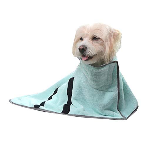 llasm Toalla Perro Toalla Absorbente para Perros Toalla De Secado para Mascotas De Microfibra para Viajes De Mascotas O Uso Doméstico Baño De Mascotas Small,Green