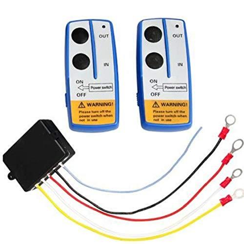 Canjerusof 2 PCS Wireless Switch Profesional Torno 2 Kit Auricular ATV Coche de 12V